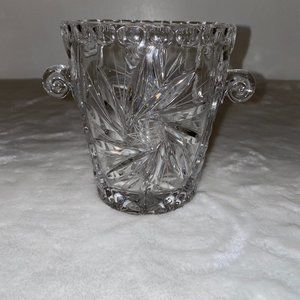 Crystal Cut Glass vase etched